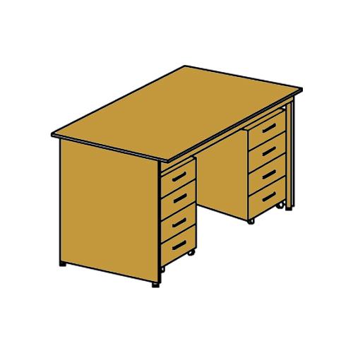 стол двухтумбовый