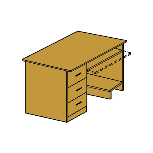 Стол компьютерный с тумбой и подставкой